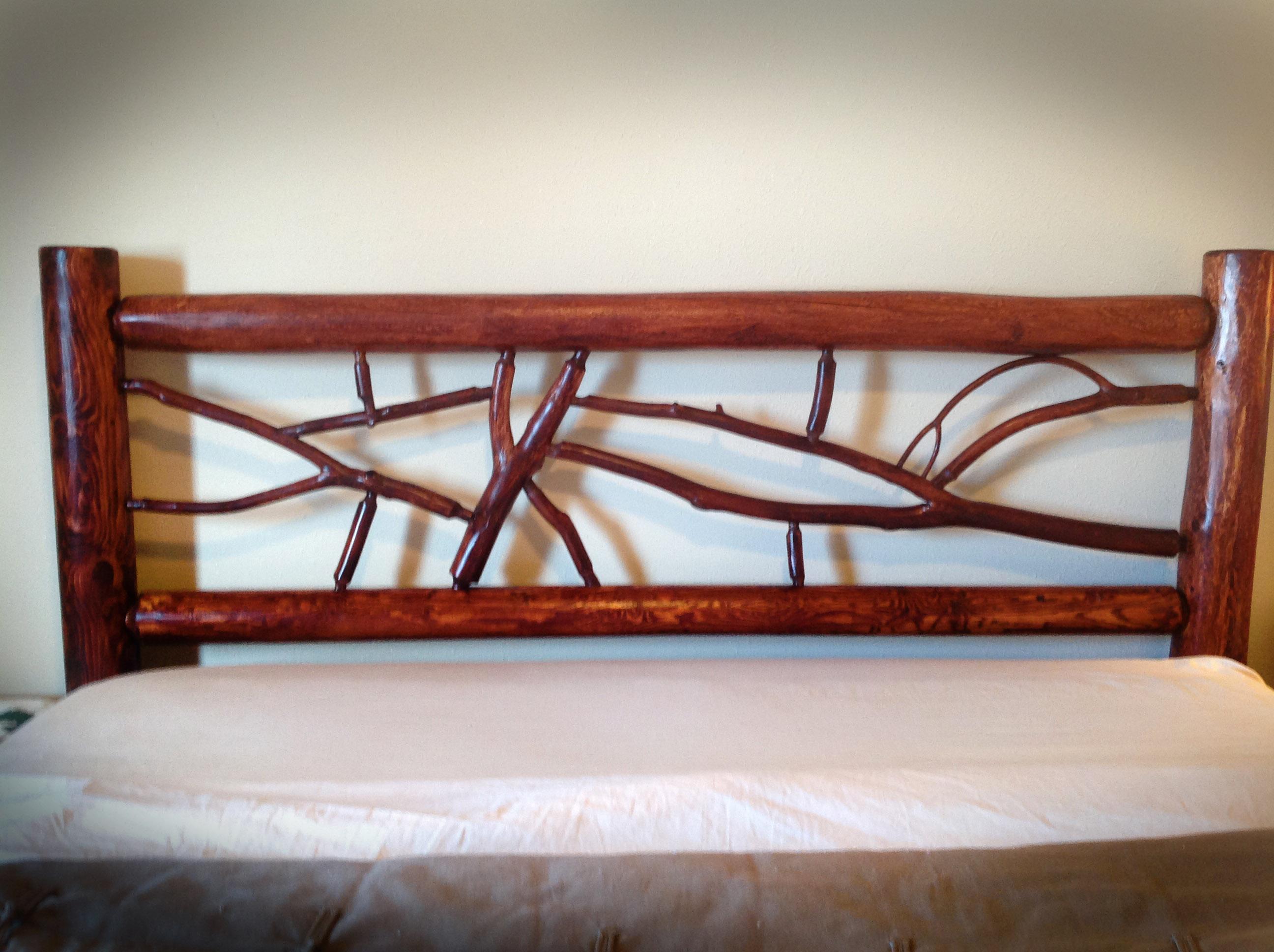 Rustic Juniper Headboard | Bearcreek WoodWorks