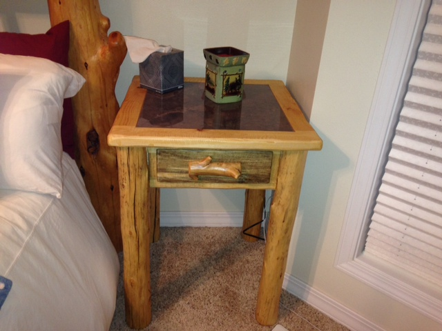 Rustic Pine Bedside Table
