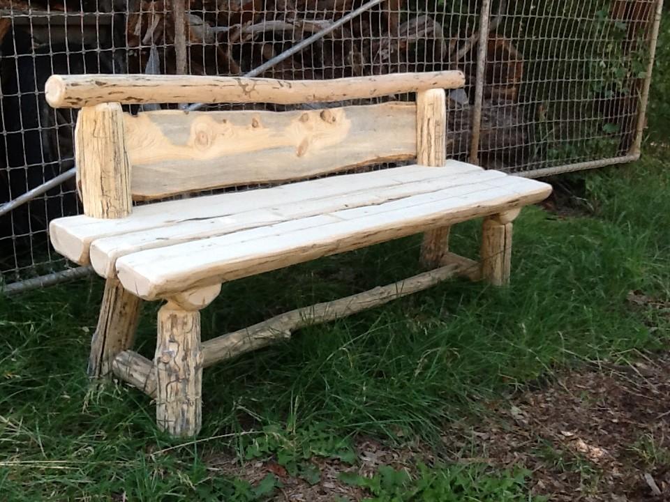 Pine Wood Log Bench Bearcreek Woodworks